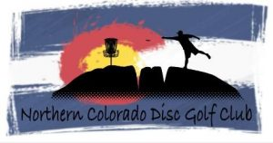 towel graphic with a silouette of a disc golfer over a colorado flag background