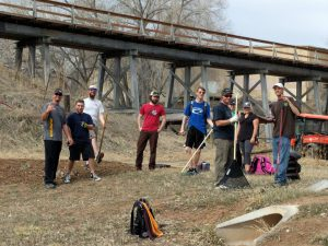Local disc golf players helping clean up the Edora Park disc golf course in Northern Colorado