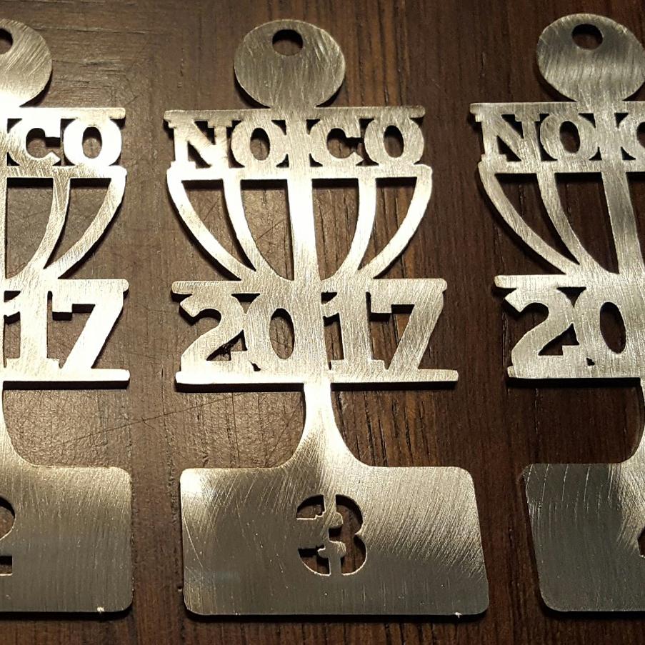 Bag Tag Northern Colorado Disc Golf Club 2017 image metal cutout NCDGC NoCo